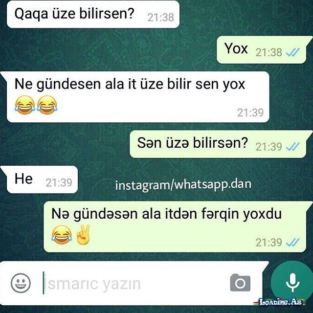 Gülməli,məntiqli WhatsApp yazışmaları...
